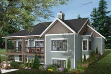 Home Plan - Traditional Exterior - Rear Elevation Plan #23-2534