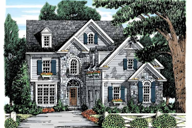 Home Plan - Country Exterior - Front Elevation Plan #927-868