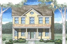 Country Exterior - Front Elevation Plan #1029-11