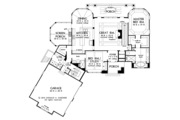 Cottage Style House Plan - 4 Beds 4 Baths 3123 Sq/Ft Plan #929-992 Floor Plan - Lower Floor