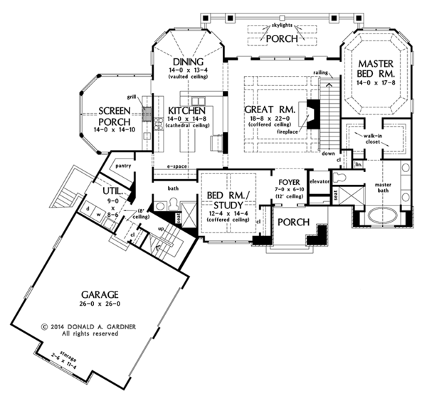 Cottage Floor Plan - Lower Floor Plan Plan #929-992