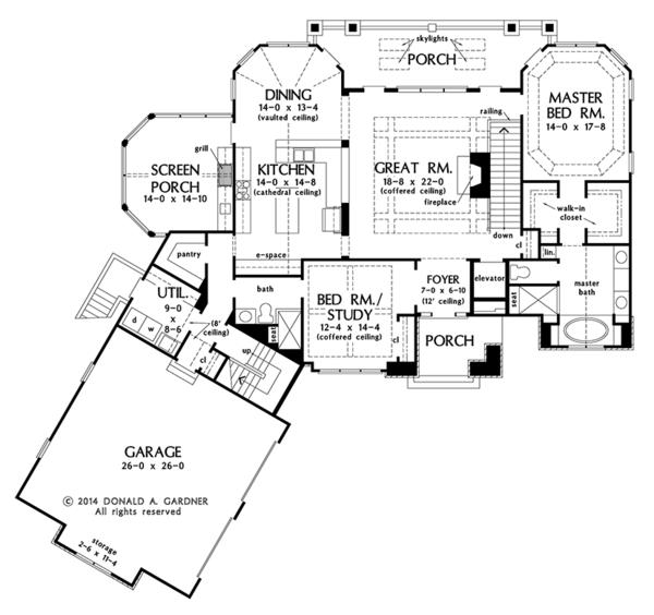 Home Plan - Cottage Floor Plan - Main Floor Plan #929-992