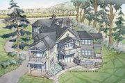 Craftsman Style House Plan - 4 Beds 5.5 Baths 5269 Sq/Ft Plan #928-259 Exterior - Rear Elevation
