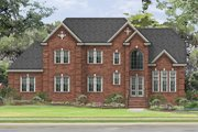 Traditional Style House Plan - 4 Beds 3 Baths 2648 Sq/Ft Plan #1057-5 Exterior - Front Elevation