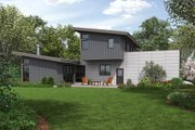 Contemporary Style House Plan - 3 Beds 3 Baths 2371 Sq/Ft Plan #48-693 Exterior - Rear Elevation