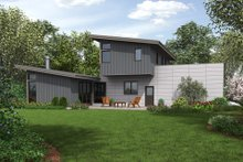 Contemporary Exterior - Rear Elevation Plan #48-693