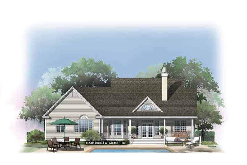 Country Exterior - Rear Elevation Plan #929-885 - Houseplans.com
