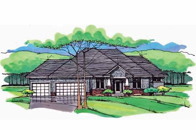 European Exterior - Front Elevation Plan #51-981 - Houseplans.com