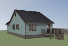 Cottage Exterior - Rear Elevation Plan #79-139