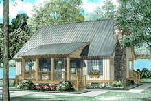 Country Exterior - Front Elevation Plan #17-2885