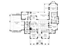 Mediterranean Floor Plan - Main Floor Plan Plan #1058-86
