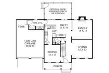 Colonial Floor Plan - Main Floor Plan Plan #1053-65