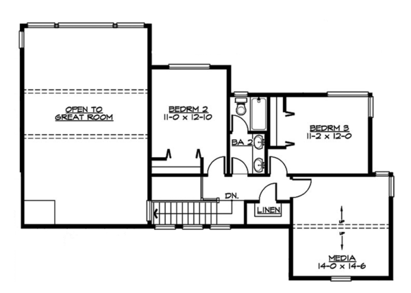 Contemporary Floor Plan - Upper Floor Plan Plan #132-563