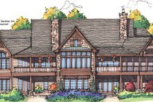 European Exterior - Rear Elevation Plan #929-894