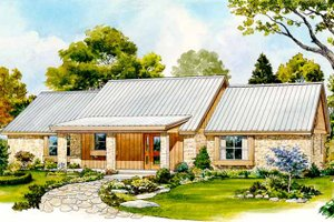 Country Exterior - Front Elevation Plan #140-181