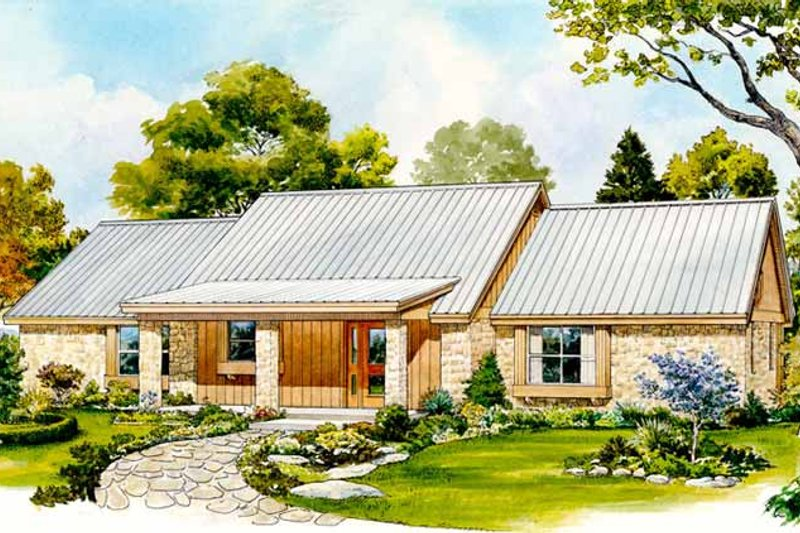 Country Exterior - Front Elevation Plan #140-181 - Houseplans.com