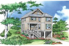 Craftsman Exterior - Front Elevation Plan #929-449
