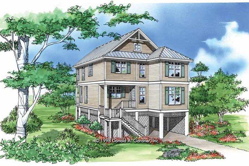 Craftsman Exterior - Front Elevation Plan #929-449