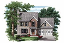 House Design - Colonial Exterior - Front Elevation Plan #927-839