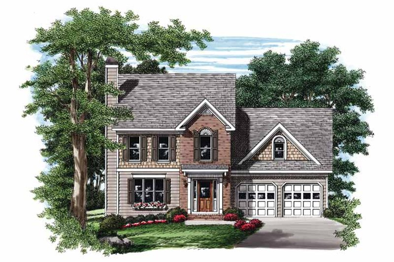 Colonial Exterior - Front Elevation Plan #927-839