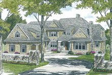 Architectural House Design - Country Exterior - Front Elevation Plan #453-456