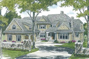 House Design - Country Exterior - Front Elevation Plan #453-456