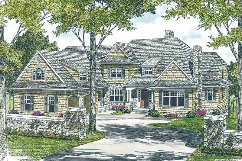 Dream House Plan - Country Exterior - Front Elevation Plan #453-456