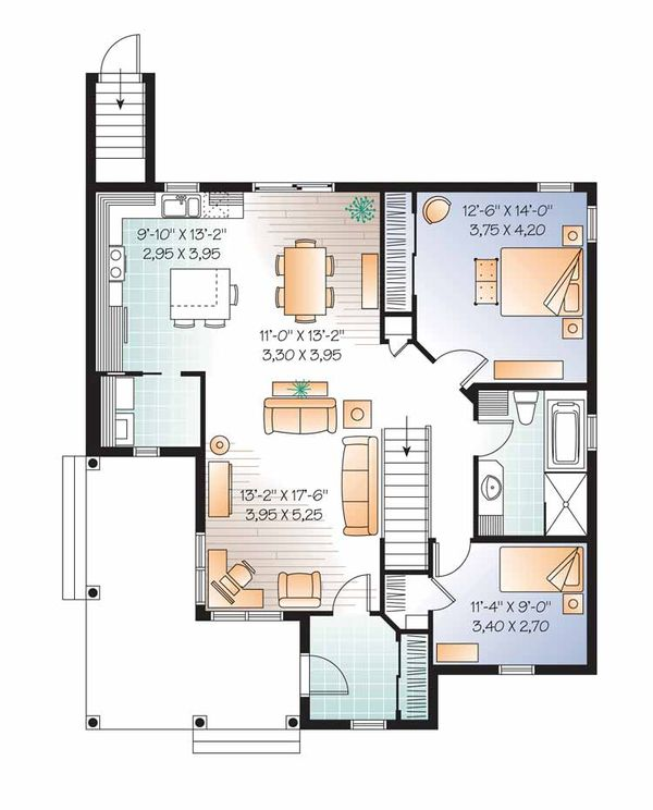 Country Floor Plan - Main Floor Plan Plan #23-2517