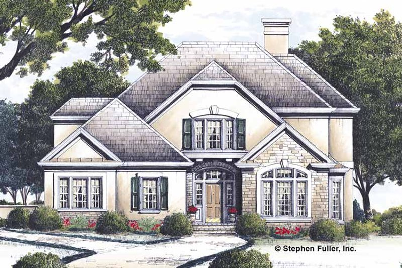 Country Exterior - Front Elevation Plan #429-125 - Houseplans.com