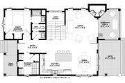 Cottage Style House Plan - 5 Beds 3 Baths 2415 Sq/Ft Plan #928-314 Floor Plan - Main Floor Plan