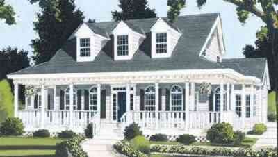 Southern Style House Plan - 5 Beds 2.5 Baths 2401 Sq/Ft Plan #3-199 Exterior - Front Elevation