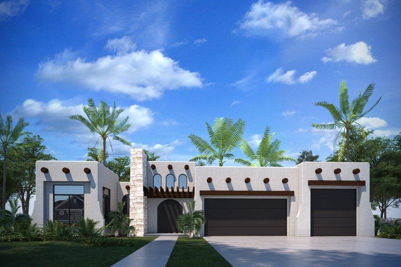 Adobe / Southwestern Style House Plan - 3 Beds 2.5 Baths 1868 Sq/Ft Plan #1073-30