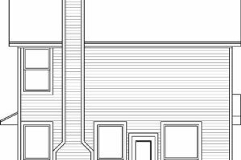 Traditional Exterior - Rear Elevation Plan #84-106 - Houseplans.com