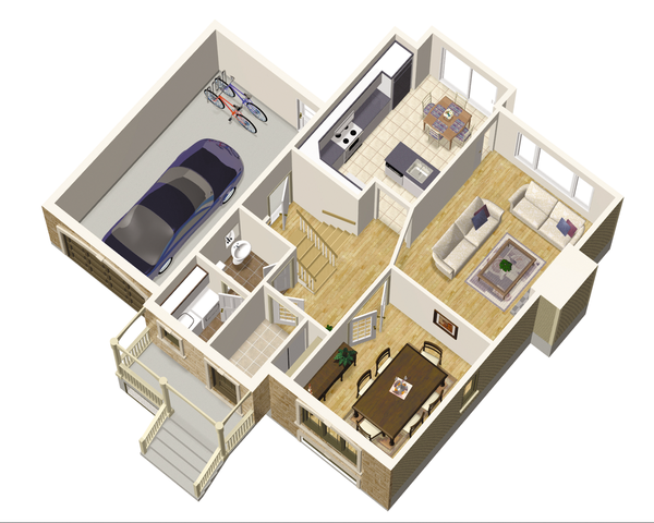 European Floor Plan - Main Floor Plan Plan #25-4680