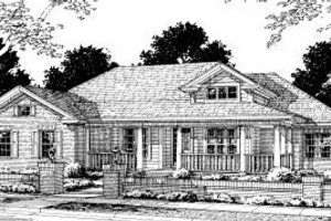 Traditional Exterior - Front Elevation Plan #20-315