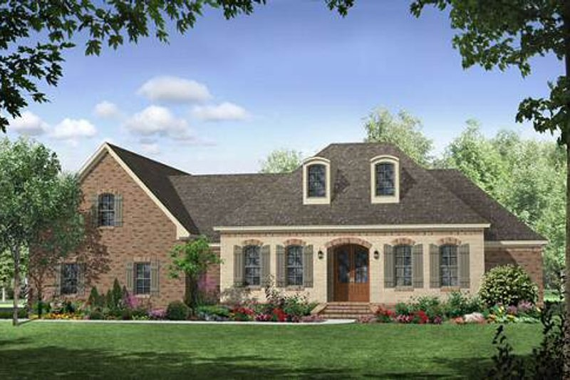 European Exterior - Front Elevation Plan #21-266 - Houseplans.com