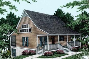 Farmhouse Exterior - Front Elevation Plan #406-178