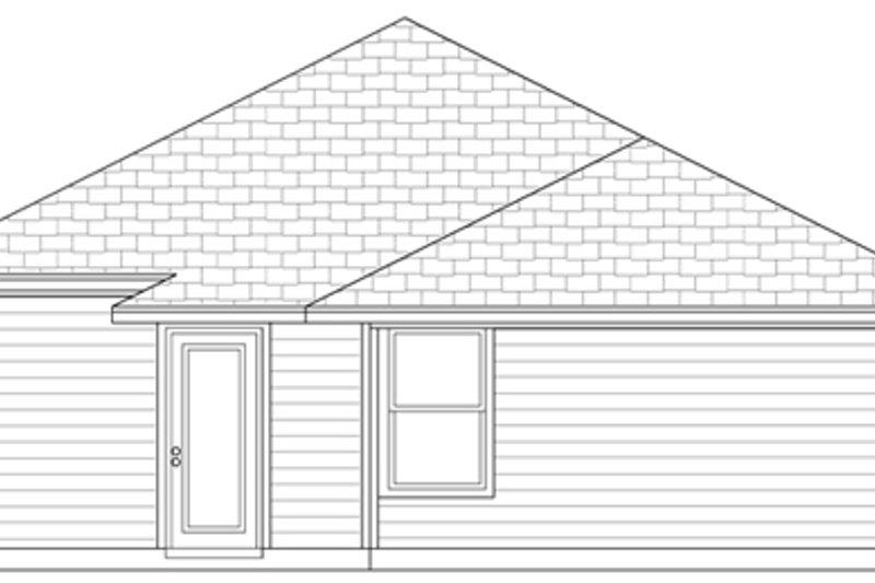 Craftsman Exterior - Rear Elevation Plan #84-492 - Houseplans.com