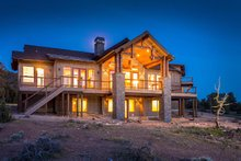 Ranch Exterior - Rear Elevation Plan #895-29