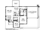Ranch Style House Plan - 2 Beds 2 Baths 1477 Sq/Ft Plan #70-1452 Floor Plan - Main Floor