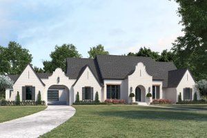 Country Exterior - Front Elevation Plan #1074-40