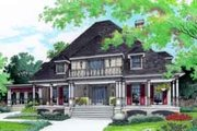 Southern Style House Plan - 4 Beds 4 Baths 3292 Sq/Ft Plan #45-251 Exterior - Front Elevation