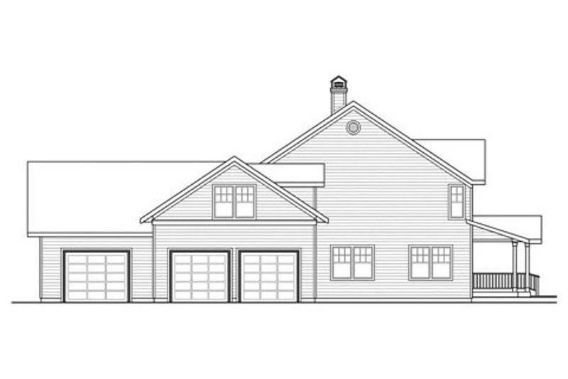 Traditional Exterior - Other Elevation Plan #124-837 - Houseplans.com