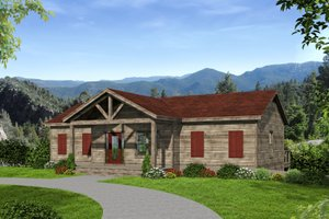 Dream House Plan - Adobe / Southwestern Exterior - Front Elevation Plan #932-119