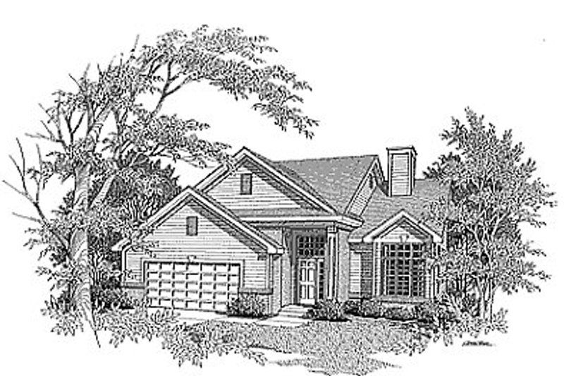 Traditional Exterior - Front Elevation Plan #70-225