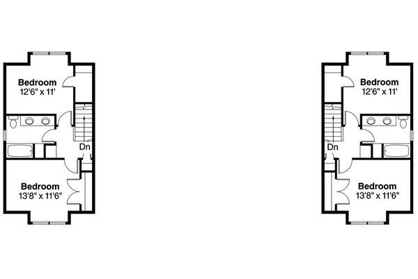 House Plan Design - Cottage Floor Plan - Upper Floor Plan #124-1075