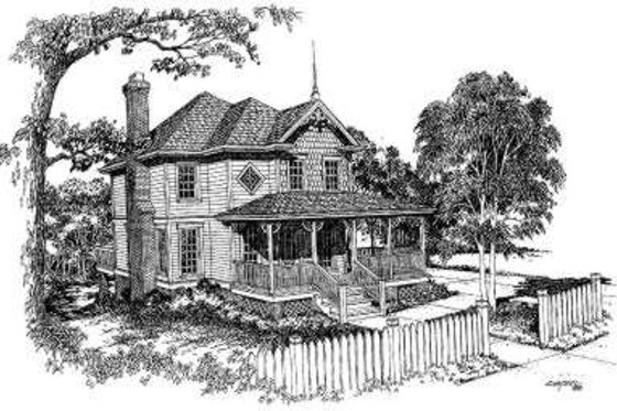 Victorian Exterior - Front Elevation Plan #322-110