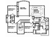 European Style House Plan - 5 Beds 4 Baths 3038 Sq/Ft Plan #129-160 Floor Plan - Upper Floor Plan