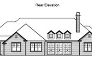 Traditional Style House Plan - 5 Beds 4.5 Baths 3536 Sq/Ft Plan #490-11 Exterior - Rear Elevation