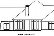 Country Style House Plan - 4 Beds 3 Baths 4290 Sq/Ft Plan #65-219 Exterior - Rear Elevation